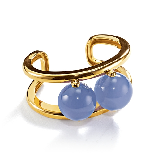 Belperron-Jewelry-Abacus-Chalcedony-Yellow-Gold-Cuff