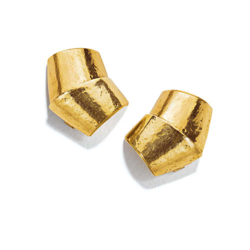 Belperron-Jewelry-Roof-Virgin-Yellow-Gold-Earclips