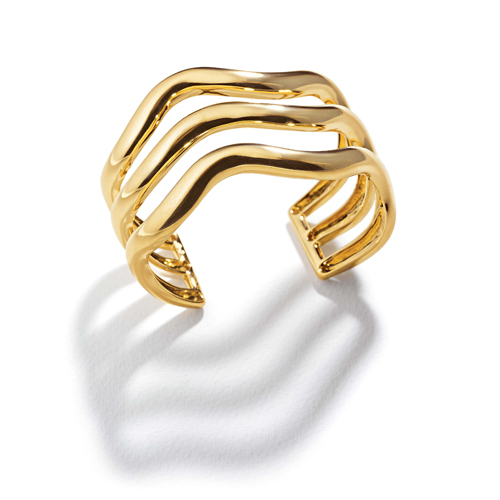 Belperron-Jewelry-Triple-Wave-Virgin-Yellow-Gold-Cuff