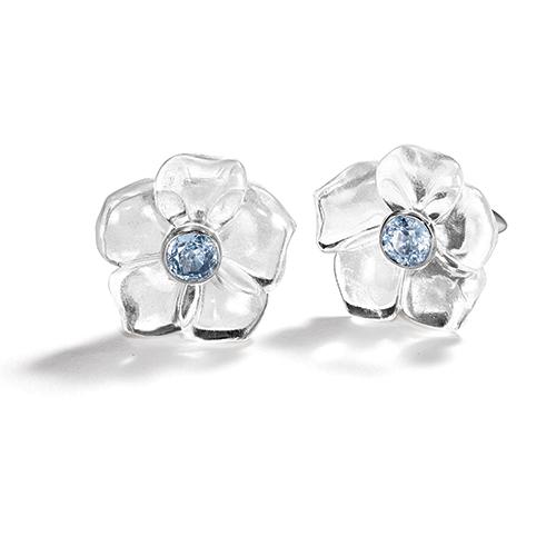 Belperron-Fleur-Earclips-Snowflake-Rock-Crystal-Sapphire