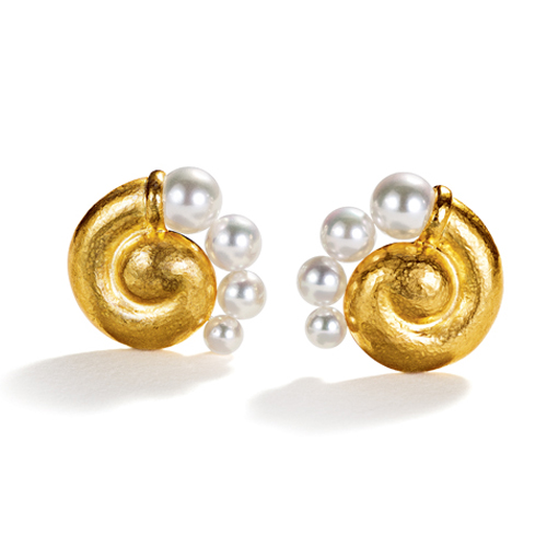 Belperron-Jewelry-Spiral-Earclips-Virgin-Gold-Pearl