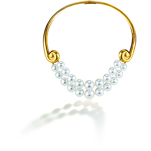 Belperron-Spiral-Torque-Necklace-Virgin-Gold-Pearl