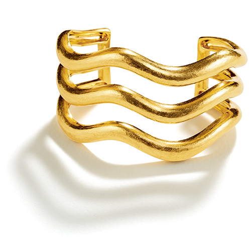 Belperron-Triple-Wave-Cuff-Virgin-Gold