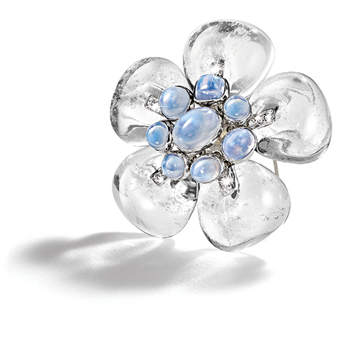 Belperron-Windsor-Flower-Brooch-Snowflake-Rock-Crystal-Moonstone