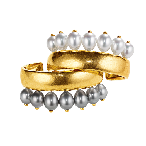 Couronne Cuffs_Black & White Pearl-Virgin Gold_18