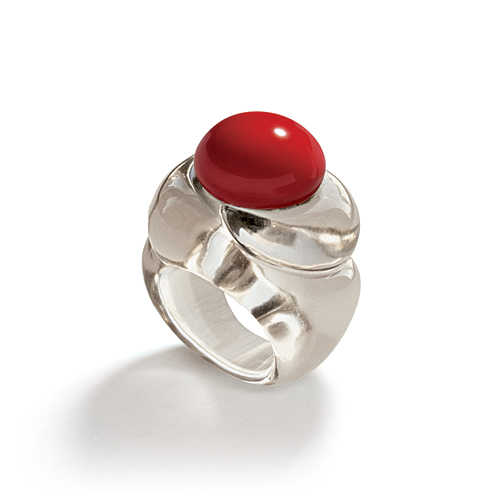 Belperron-Jewelry-Tourbillon-Ox-Blood-Coral-Smoky-Quartz-Ring