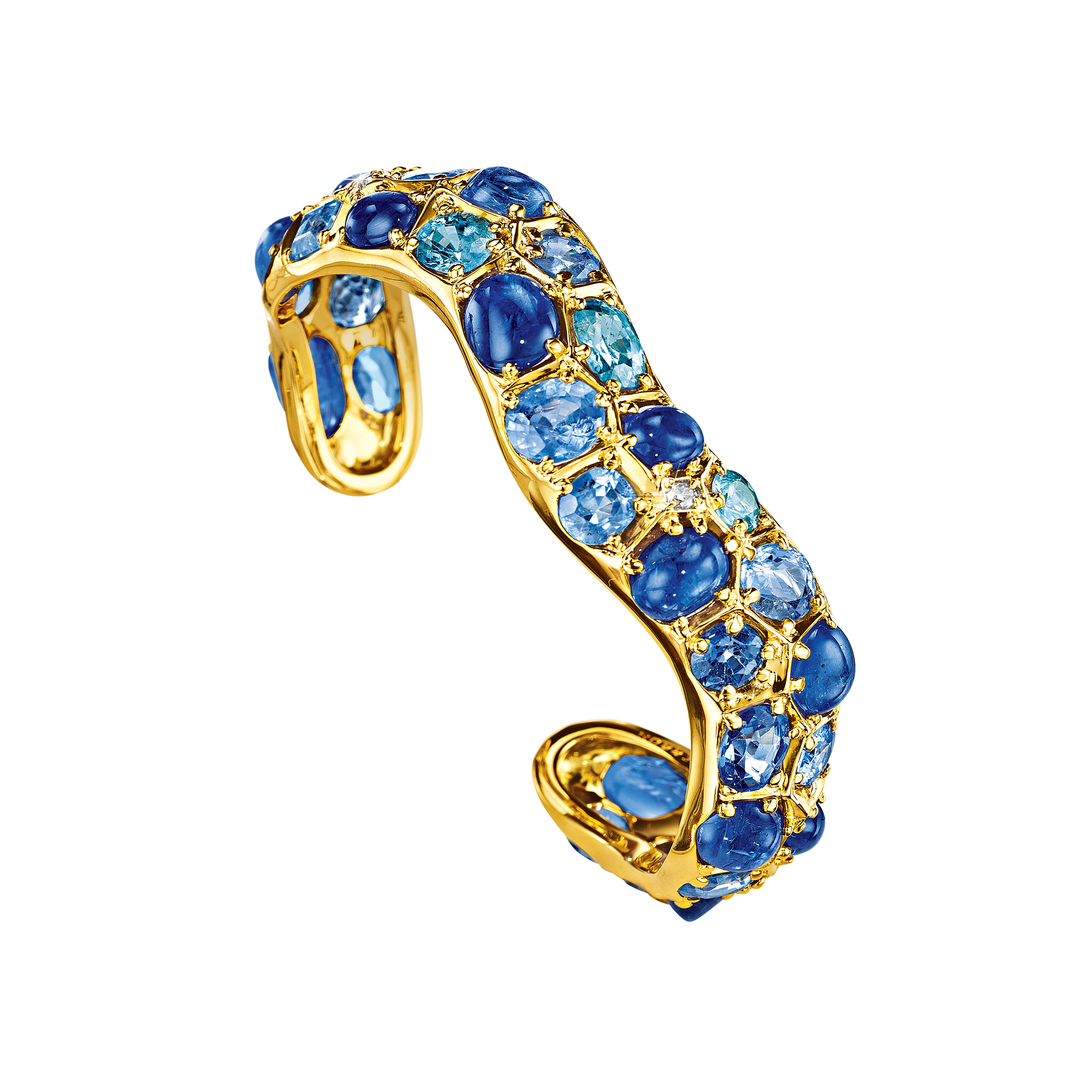 Serti-Couteau Wave Cuff_Sapphire-Diamond_19